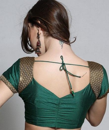 Blouse back neck designs for pattu sarees6