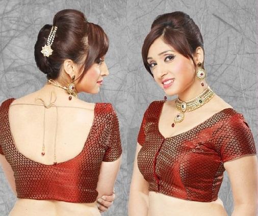 Blouse back neck designs for pattu sarees8