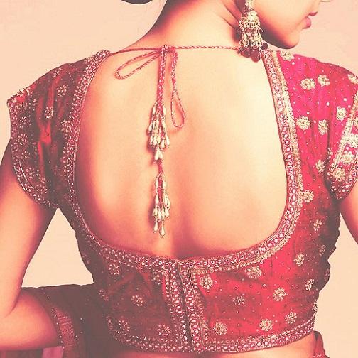 Blouse back neck designs for pattu sarees9