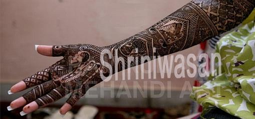 Best Mehndi Artists In India-A Shriniwasan