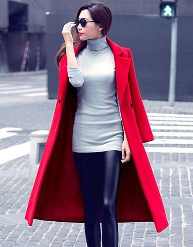 Long Red Blazer Women