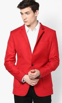 Luc fashion Red Solid Blazer