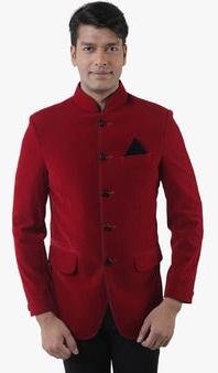 Lee Marc Red Solid Blazer