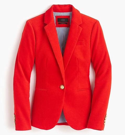 Petite Red Blazer Women