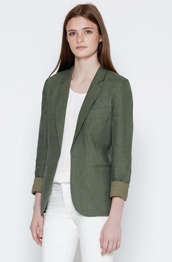 Long Linen Blazer Women