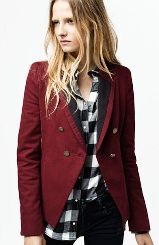 Casual Look – Maroon Blazer for Women