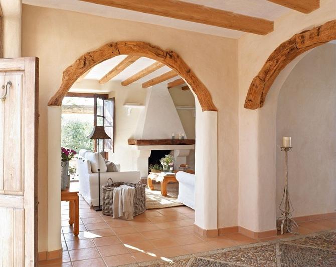 Decoracion De Arcos De Madera Enn Salones Una Casa En Mallorca Acunada Por El Mar