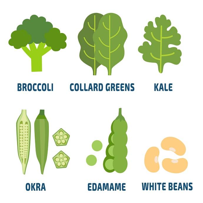 calcium rich vegetables