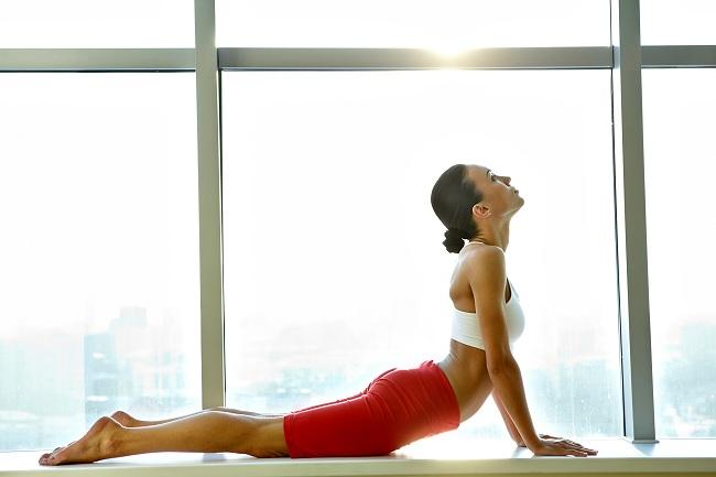 Streching Cobra Pose - fat burning floor exercises