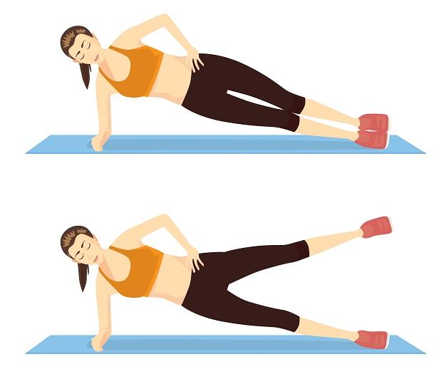 Side Lying Leg Lift - basic floor exercises