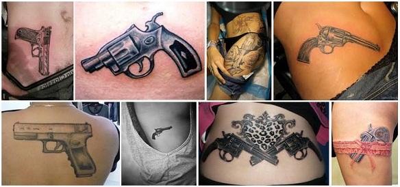 gun tattoo designs