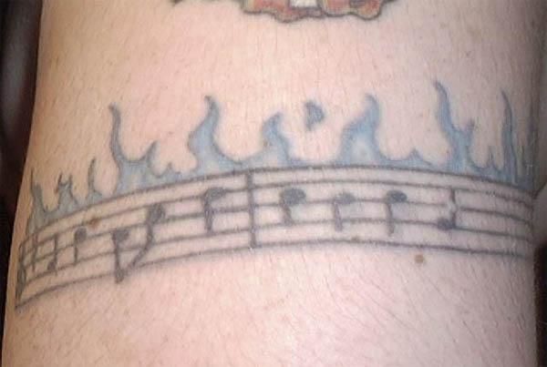 musical armband tattoos