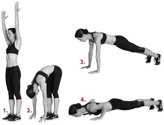 Inchworm Exercise - under armpit fat workout