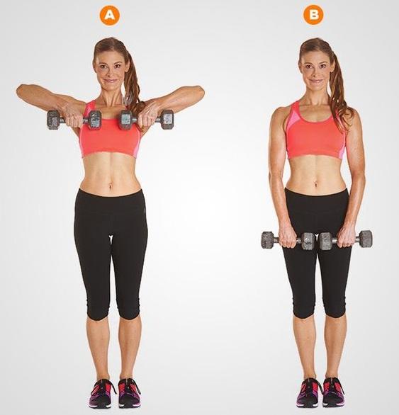 Upright Row - armpit fat workouts