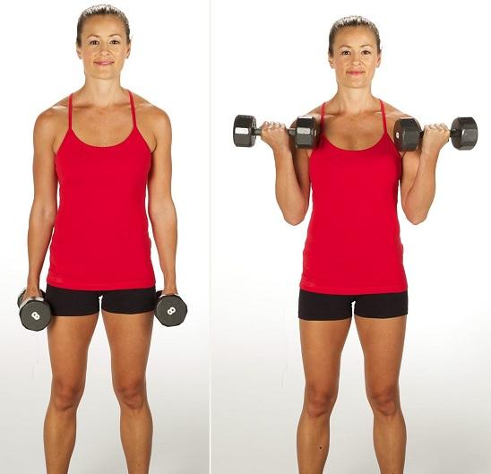 Bicep Curl - armpit exercises