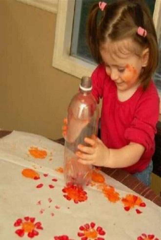 Soda Bottle Flower Prints