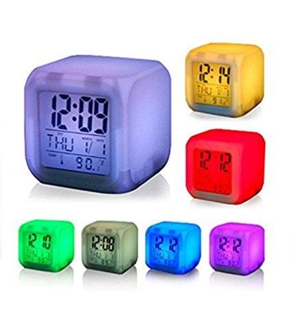 Seven Color Changing LED Desk Clocks