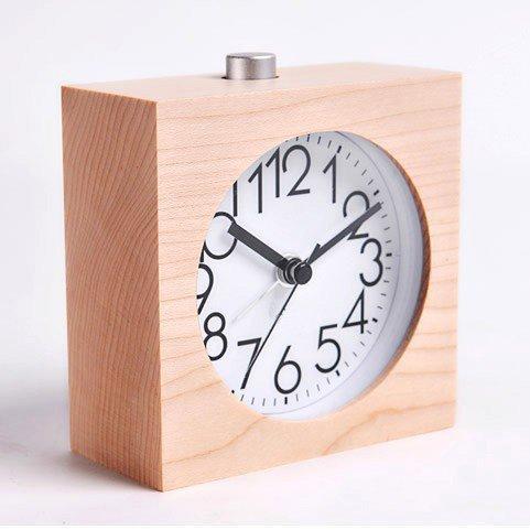 Analog Wooden Silent Desk Clocks