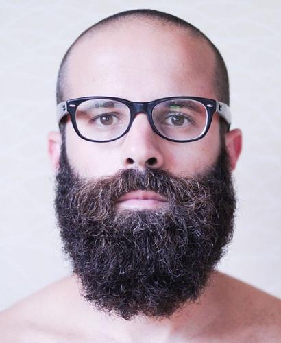Long Beard Style with Less Hair