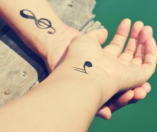music tattoos for wrist