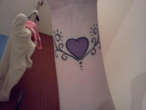 Heart Wrist Tattoo