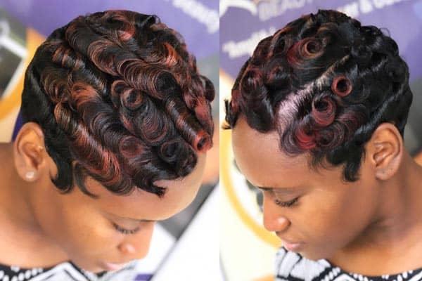 Coloured Trendy Black Haircut