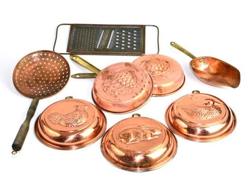 Traditional copper kitchen accessories
