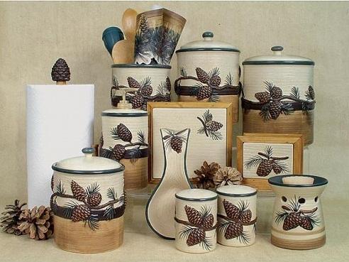 Pine Cone kitchen accessories