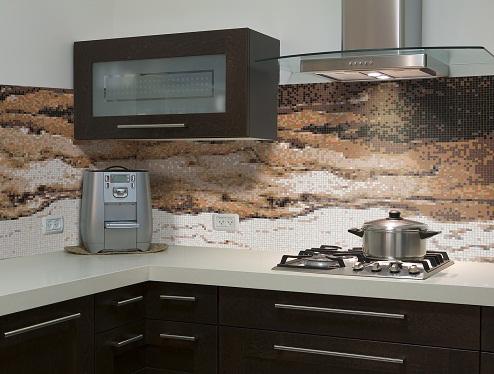 Layered Style Kitchen Tiles Design