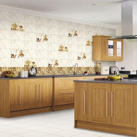 Glory Gold Design Kitchen Tiles