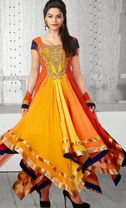 Anarkali Net Embroidered Sleeveless Long Churidar Kameez Designs 2020