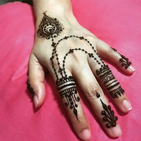 Jewellery Style Mehndi Finger Designs