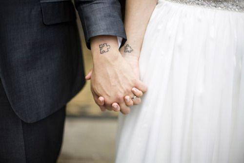 puzzle couple tattoo