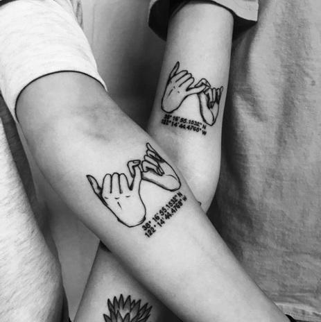 matching couple tattoo designs