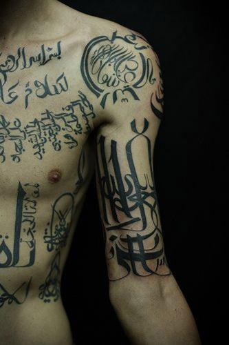 full body arabic tattoo designs