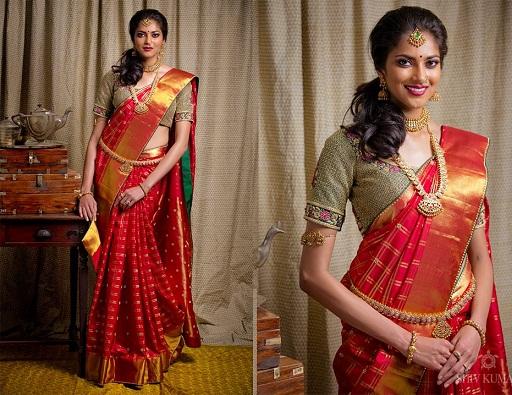 Designer Pattu Saree with Unique Blouse