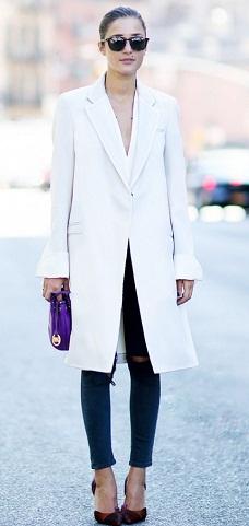 Long White Blazer