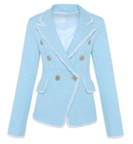Cotton Blue Blazer Women