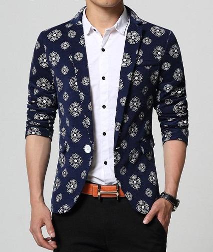 Printed Party Wear Blazer