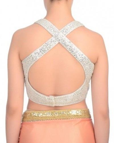 Silver Blouse Back Pattern
