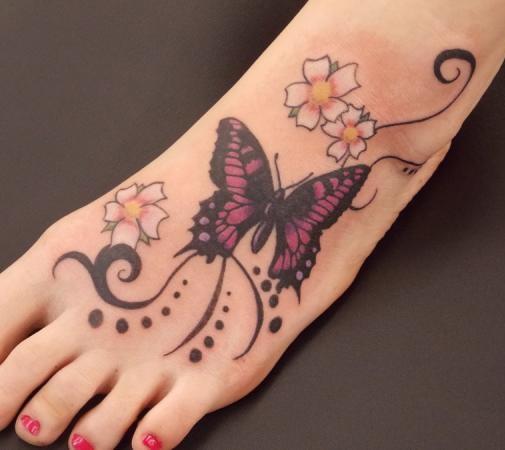 girl foot tattoos