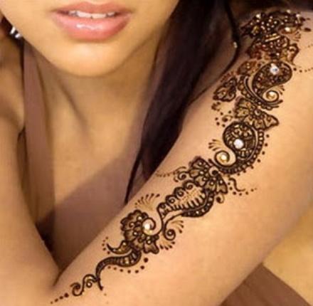 Arm Mehendi Design for Girls