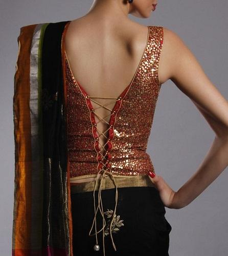 Corset Blouse Back Design