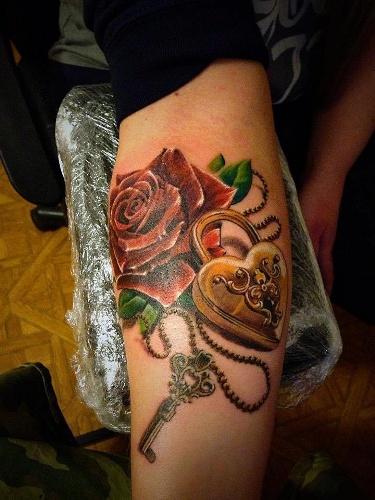 Lock and Key Tattoos 5