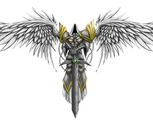 Daggered Angel Tattoo