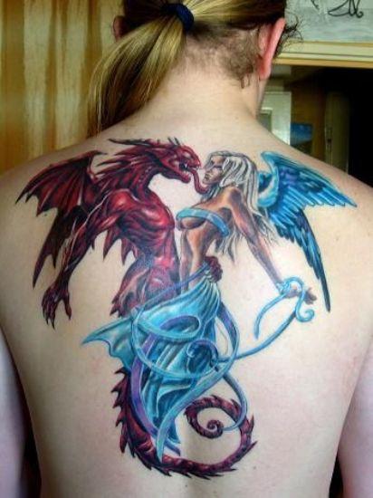 Demon Styles Angel Tattoos