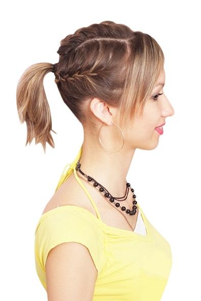 Beach hairstyles three ponytails