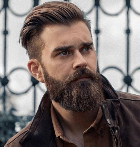 Low Skin Fade with Beard