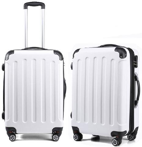 Sparking white Luggage Bag -2