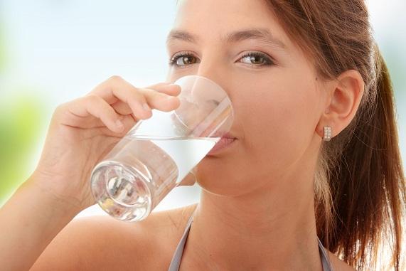 Drinking water woman4